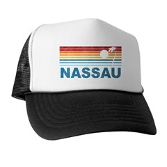 Retro Nassau Palm Tree Trucker Hat