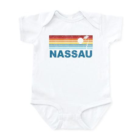 Retro Nassau Palm Tree Infant Bodysuit