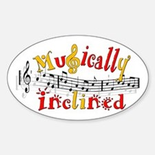 Musically Inclined Oval Decal