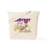 Girls on Sleds Tote Bag