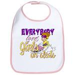 Girls on Sleds Bib