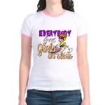 Girls on Sleds Jr. Ringer T-Shirt