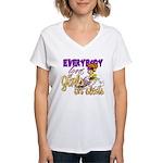 Girls on Sleds Women's V-Neck T-Shirt