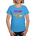 Girls on Sleds Women's Dark T-Shirt