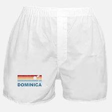 Retro Dominica Palm Tree Boxer Shorts