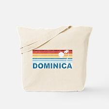 Retro Dominica Palm Tree Tote Bag