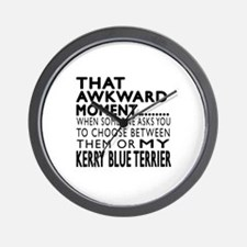 Awkward Kerry Blue Terrier Dog Designs Wall Clock