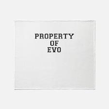 Property of EVO Throw Blanket