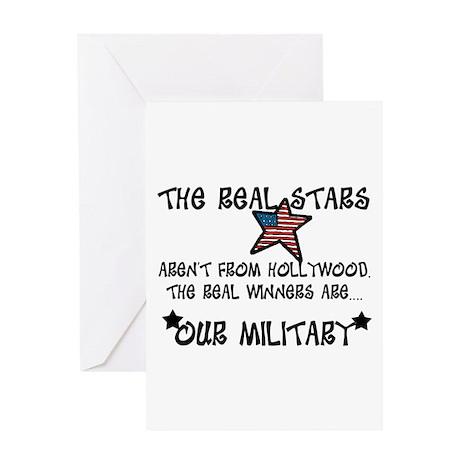 Military Stars Greeting Card