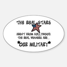 Military Stars Oval Decal