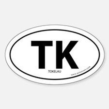 Tokelau country bumper sticker -White (Oval)