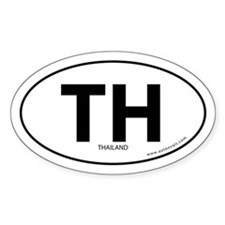 Thailand country bumper sticker -White (Oval)