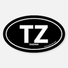 Tanzania country bumper sticker -Black (Oval)