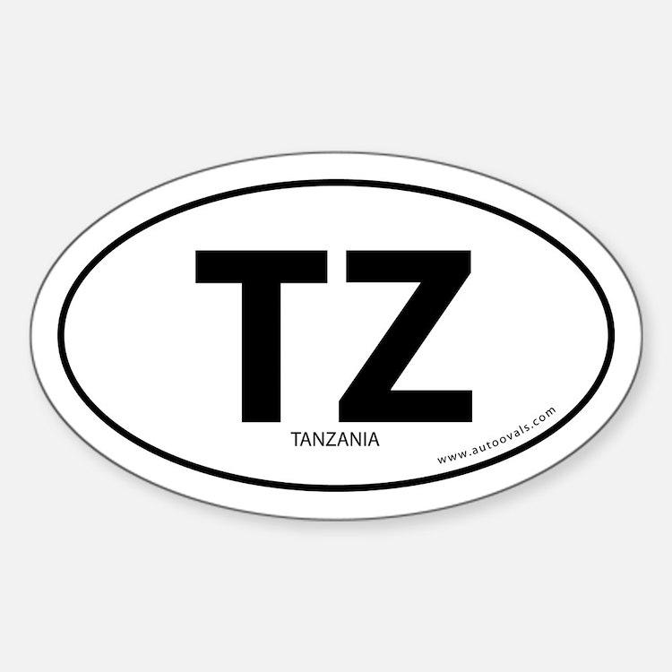 Tanzania country bumper sticker -White (Oval)