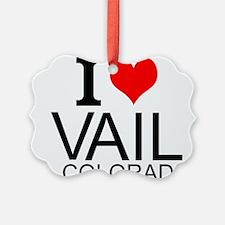 I Love Vail, Colorado Ornament