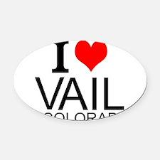 I Love Vail, Colorado Oval Car Magnet