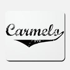 Carmelo Vintage (Black) Mousepad