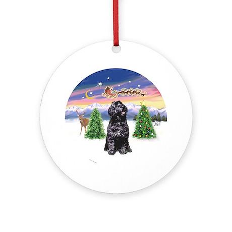 Santa's Take Off (B) /PWD Ornament (Round)