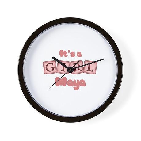 It's A Girl - Maya Wall Clock