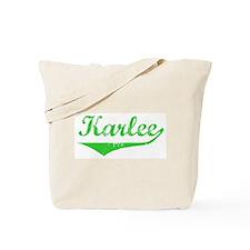Karlee Vintage (Green) Tote Bag