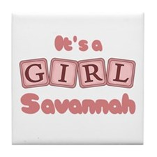 It's A Girl - Savannah Tile Coaster
