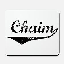 Chaim Vintage (Black) Mousepad