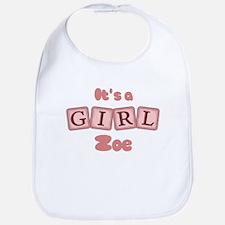 It's A Girl - Zoe Bib
