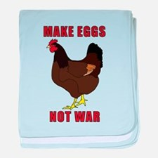 Make Eggs Not War baby blanket