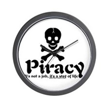 Piracy Wall Clock