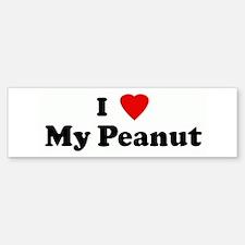 I Love My Peanut Bumper Car Car Sticker