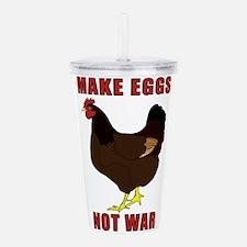 Make Eggs Not War Acrylic Double-wall Tumbler
