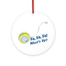 Yo Yo Yo Cheesy Retro Ornament (Round)