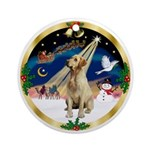 Wreath (G) - Xmas Magic - Lab (Y) Ornament (Round)