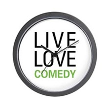 Live Love Comedy Wall Clock