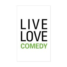 Live Love Comedy Decal