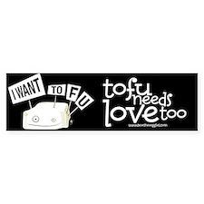 Save The Veggies! Bumper Bumper Sticker
