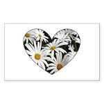 Daisy Heart Rectangle Sticker