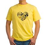 Daisy Heart Yellow T-Shirt