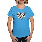 Daisy Heart Women's Dark T-Shirt