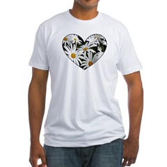 Daisy Heart Fitted T-Shirt