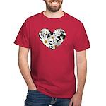Daisy Heart Dark T-Shirt