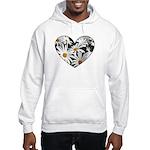 Daisy Heart Hooded Sweatshirt