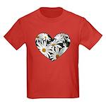 Daisy Heart Kids Dark T-Shirt
