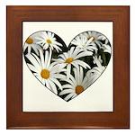 Daisy Heart Framed Tile
