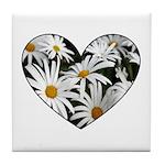 Daisy Heart Tile Coaster