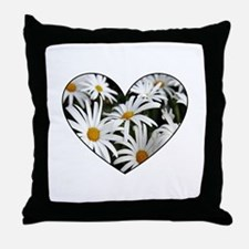 Daisy Heart Throw Pillow
