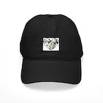 Daisy Heart Black Cap