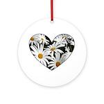 Daisy Heart Ornament (Round)