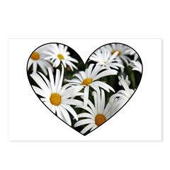 Daisy Heart Postcards (Package of 8)