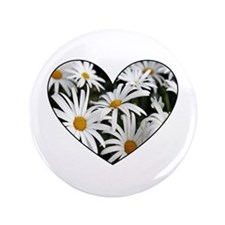 "Daisy Heart 3.5"" Button"